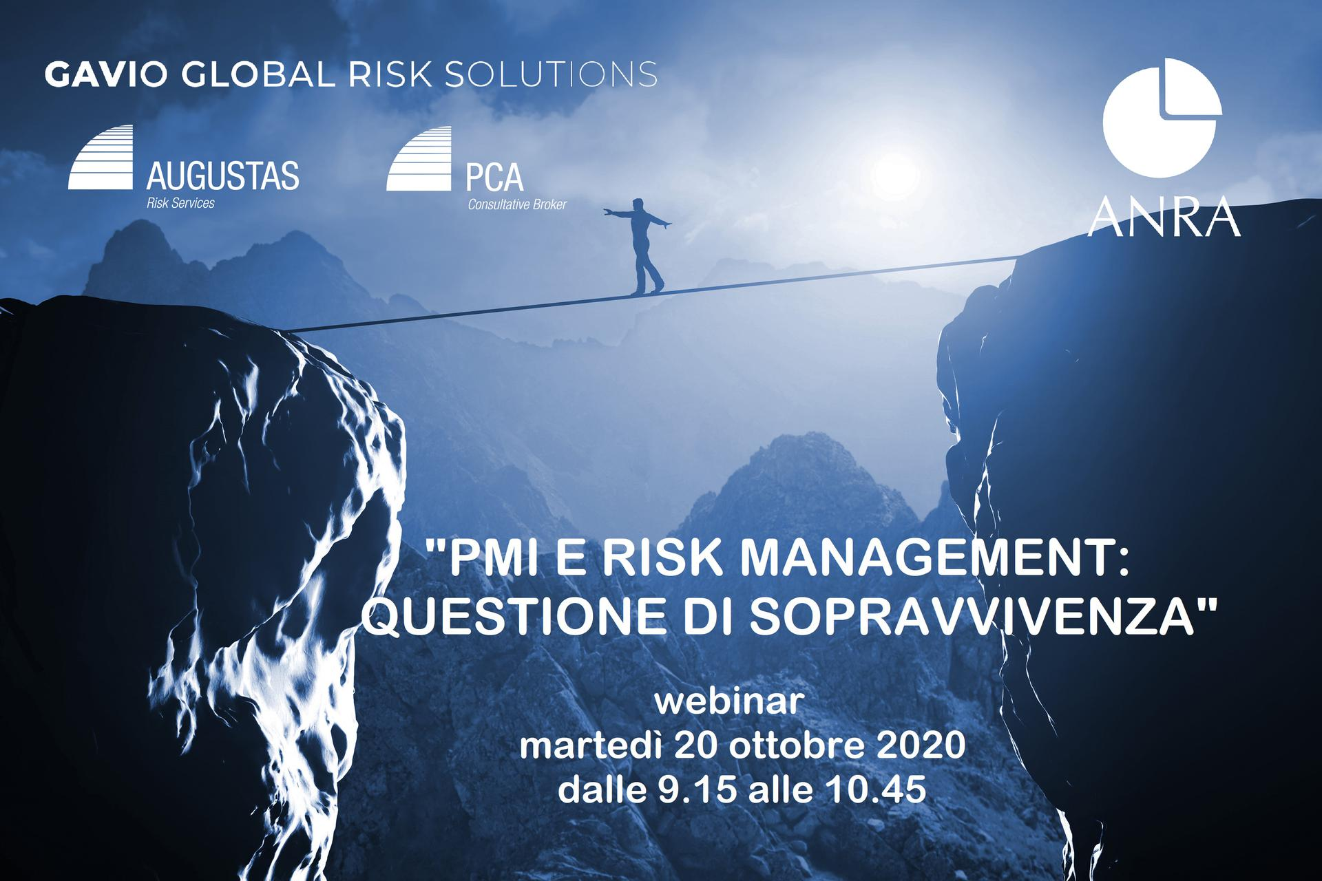 Il Webinar per portare il Risk Management nelle Pmi - Augustas: Risk Management a 360°