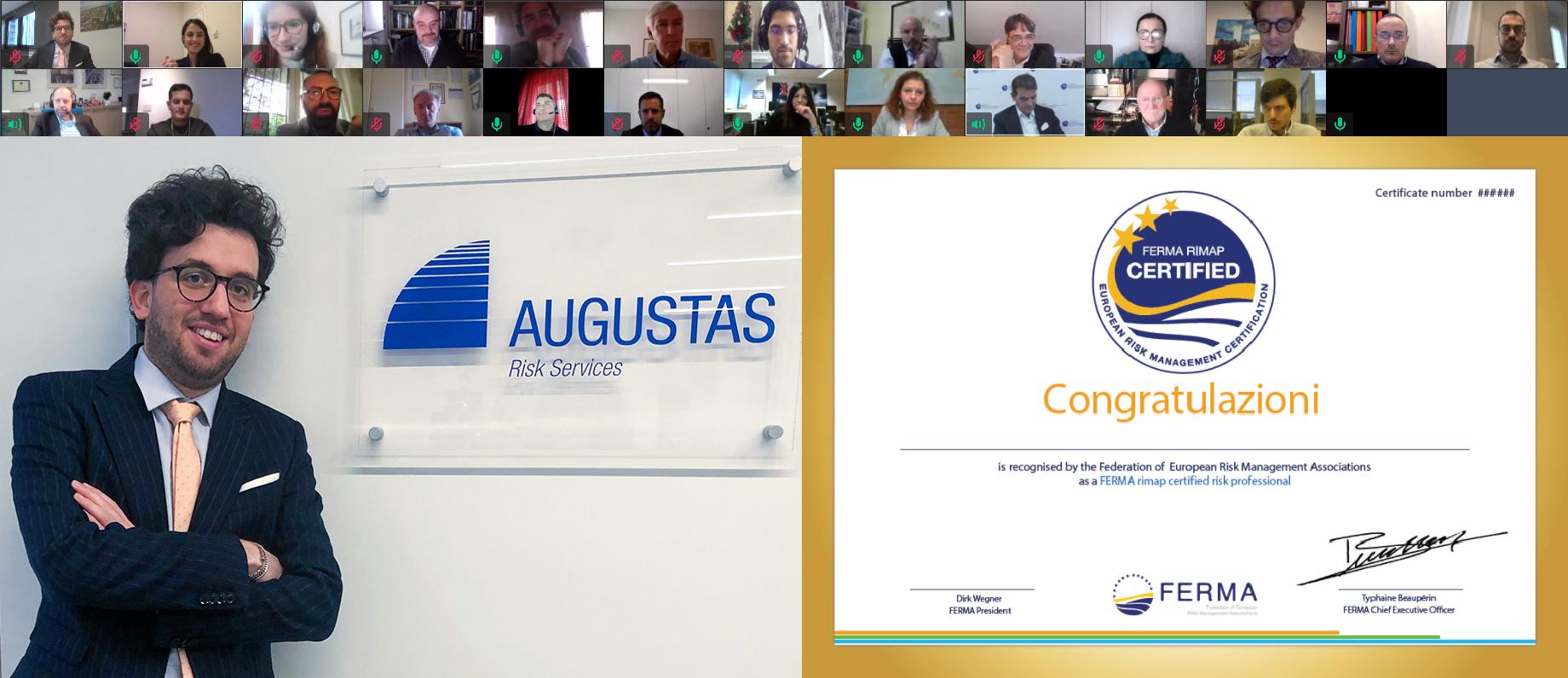 """Edoardo Mola, il nostro nuovo Risk Manager """"certificato"""" - Augustas: Risk Management a 360°"""